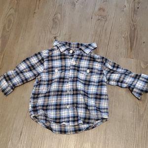 3/$20 - Gymboree   Infant Button-Up Shirt   Plaid